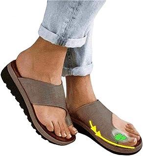 b9e726467afd7 sandals 2019 New Attelles Femmes Cuir PU Occasionnel Shoes Platform Semi  Trailer correcteur d oignon