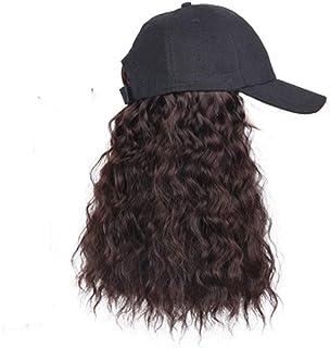 SHYPT Bonnet De Baseball De Bason Synthétique Longue Perruque Wigs Wigs Naturellement Synthetic Wig Réglable pour Girl Par...
