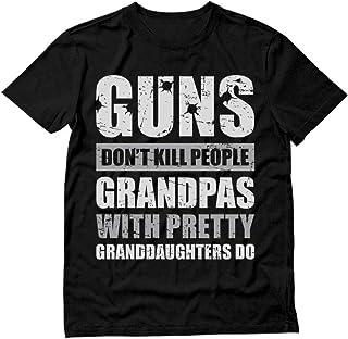 Tstars - Guns Don't Kill Grandpas with Pretty Granddaughters Do Gift T-Shirt