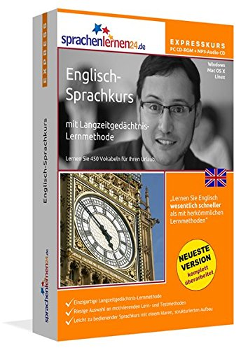 Sprachenlernen24.de Englisch-Express-Sprachkurs PC CD-ROM für Windows/Linux/Mac OS X + MP3-Audio-CD: Werden Sie in wenigen Tagen fit für Ihre Reise nach England