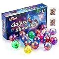 Luclay Galaxy Slime Kit de 18 Paquetes de Gelatina Pegajosa de Masilla Suave Elástica Metálica - para Fiestas de Niños y Adultos de Luclay