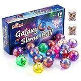 Luclay Galaxy Slime Balls per Bambini, Stucco a Base di Uova lanuginose ed Elastiche - Non appiccicoso, Sollievo da Stress e ansia - Putty Slime Super Soft & Squishy, Confezioni da 18 Pezzi