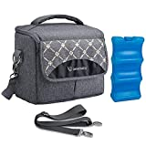 Best Baby Bottle Coolers - Lekebaby Breast Milk Cooler Bag with Contoured Ice Review