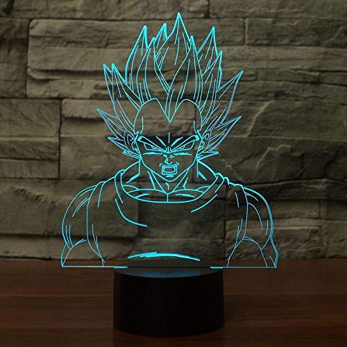 3D Illusion Lampe Led Nachtlicht Visual 7 Farben Dragon Ball Leuchten Vegeta Ara Usb Schreibtisch Lampe Tischlampe Baby Home Decor Sleeping Light Kindergeschenk