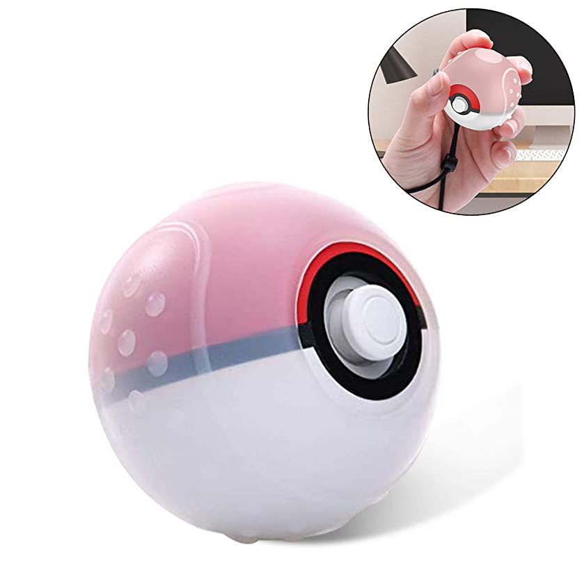 Case for Pokeball Plus, Soft Silicone Protective Cover for Pockmon Lets Go Controller [with Non Slip Dots] Handle Case Compatible with Nintendo Switch Pokemon Lets Go Pikachu Poke Ball-[Clear White]