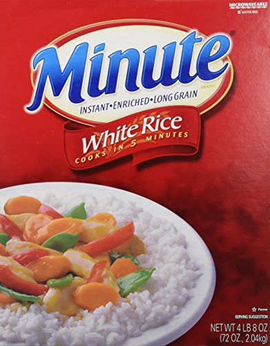 Minute Instant Enriched Long Grain White Rice, 72oz