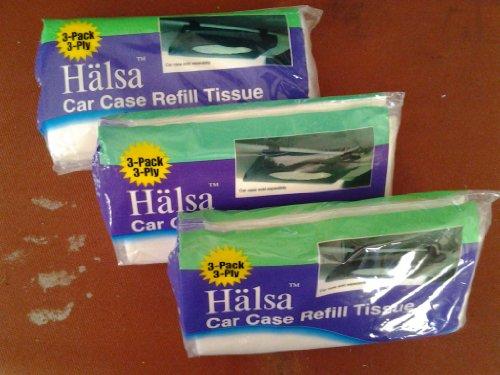 Halsa Car Case Visor Refill 3 Ply Tissue Wipes-3 Packs in a Bag 3 Bags