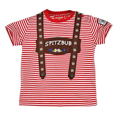 BONDI Kurzarm T-Shirt Spitzbub 91372   Rot/Weiß Gr. 104
