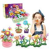 YORKOO Jouet Cadeau Fille 3 4 5 6 Ans Enfants Jouets de Construction de Jardin de Fleurs pour Enfants Fleur Jeux de Constructions pour Filles Construction de Fleurs Jardin Playsets (150pcs)