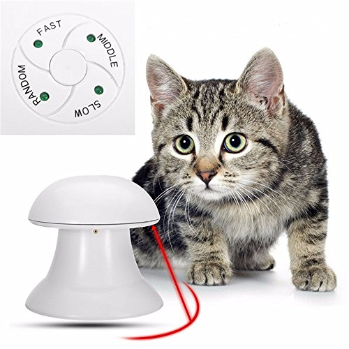 360 Degree Cat Toy Automatic Interactive Dart Laser Light Exercise Teaser Fun Exercise Pet Toy