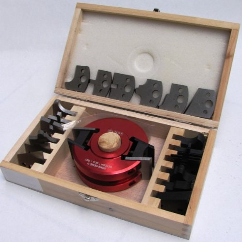 Universalfräskopf Set Profilmesser Profilfräser Fräskopf 7 Messer in Holzkiste