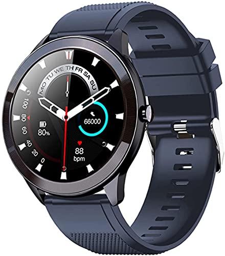 Reloj inteligente para hombre y mujer, IP68, impermeable, monitor de ritmo cardíaco, rastreador de fitness, reloj deportivo, reloj inteligente para Android LOS-azul