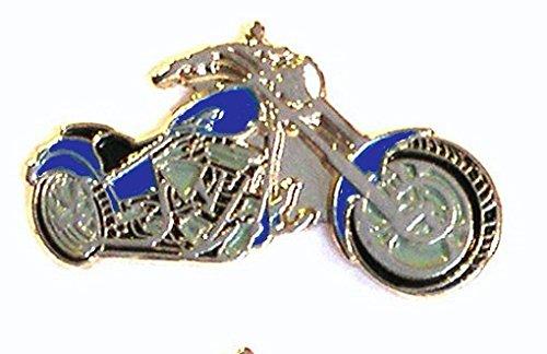 Metal Enamel Pin Badge Brooch Custom Bike Chopper Motorcycle Blue