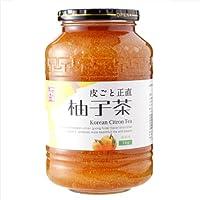 本場韓国の味 徳山物産 皮ごと正直ゆず茶 1kg瓶×8個(1ケース)