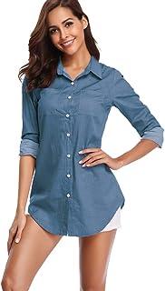756aeb15f07 Amazon.com  denim shirt women - Free Shipping by Amazon
