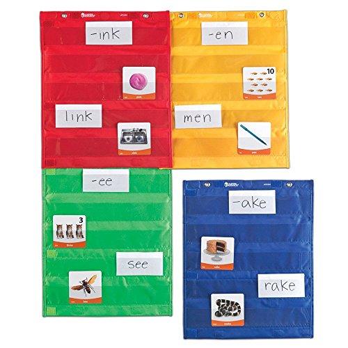 Learning Resources Quadrados de quadro magnético de bolso, organizador de sala de aula/professor, todos os anos, conjunto de 4