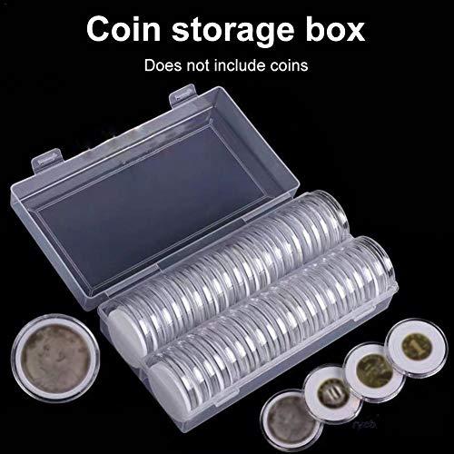 46 Mm Münz Kapseln Und 8 Größen Mit 40 Schaum Dichtung Und 1 Kunststoff Aufbewahrungsbox Für Die Münzsammlung Für 16 20 25 27 30 38 46-mm Münzen Sammlung