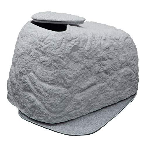 Braun GmbH Sandfilteranlage Abdeckung FLORANTIA CoverCave in grau, Sandfilter Abdeckung für Poolfilter aus hochwertigem und witterungsbeständigem PE mit naturgetreuer Steinoptik