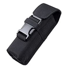 Material: 500D CORDURA Nylon, water-resistant, moderately hard, simultaneously satisfy the need of durability and comfort. Resistant to tears, scuffs and abrasions. Velvet lining, perfectly protect the surface of your flashlight. Practical pouch for ...