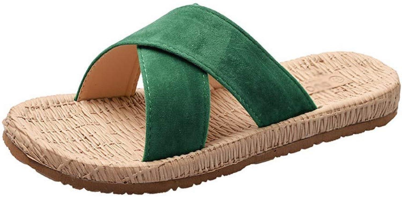 Women Wearing Slippers in Summer New Korean Fashion Cross-Shaped Slippers Sandals