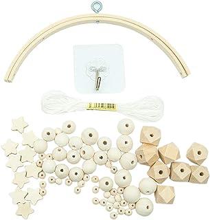KU Syang Kit D'Accessoires pour Carillons à Vent Bricolage pour Fabriquer Un Carillon Mobile pour Berceau de BéBé, Cintre ...