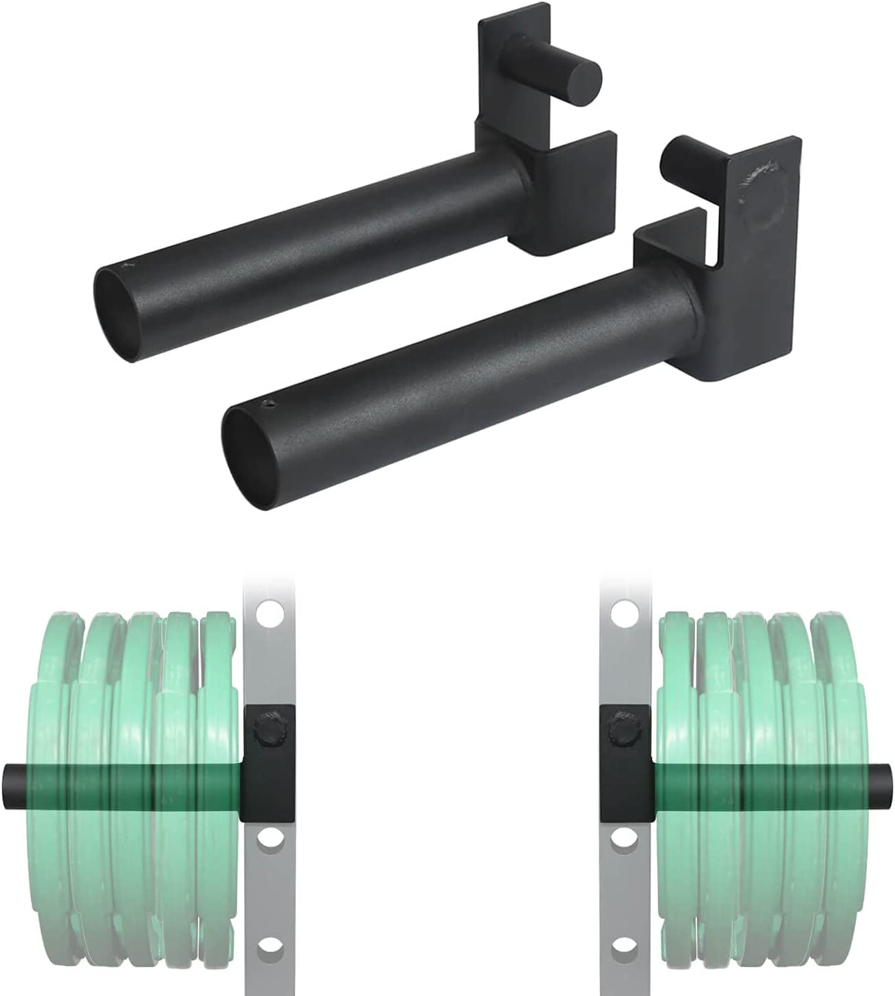 """Weight Plate Holder Power Rack Attachment Fit 2""""x2"""" Tube,Weights Storage Rack : Sports & Outdoors"""