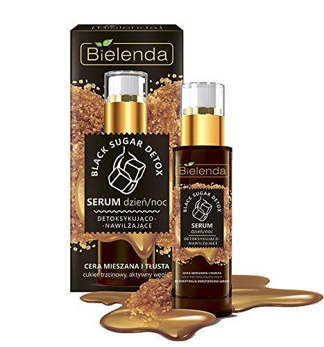 Bielenda BLACK SUGAR DETOX Detoxifying Face Serum Day/Night 30ml