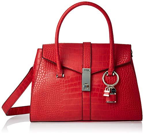 GUESS ASHER FLAP SATCHEL Handtassen femmes Rood Handtassen kort hengsel