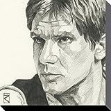 1art1 Star Wars - Han Solo Portrait Zeichnung Bilder