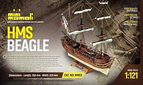 MINI MAMOLI - Modello Kit Barca HMS Beagle Serie Scala 1:121 - DUS_MM03