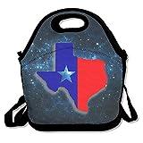 N / A Lonchera de impresión Bolsa de Almuerzo de Mapa de Texas