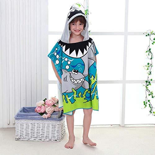 Kinderen Cartoon Baby Capuchon Mantel Strandlaken Jongens Meisjes Kinderen Zwemmen Badhanddoek Microfiber Badstof Babybadje Wrap Badjas # 8, C33