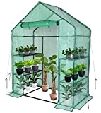 Greenhouse,Outdoor Greenhouse,Portable Greenhouse with Anchors and Roll-up Zipper Door,Grow Plants Seedlings Herbs or Flowers(56'×30'×76')