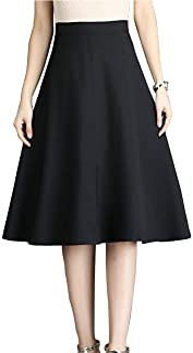 [エムズ モア] 3色展開 膝丈スカート 秋 フレア aライン オフィス キレイめ 上品 レディース S~XL