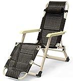 Silla plegable para muebles – Garden Life Zero Gravity plegable al aire libre Tumbona/marco de acero, diseño clásico (color: E)