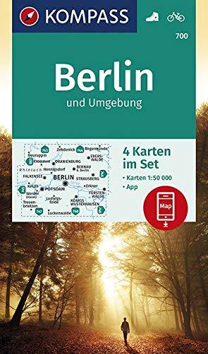 KOMPASS Wanderkarte Berlin und Umgebung: 4 Wanderkarten 1:50000 im Set inklusive Karte zur offline Verwendung in der KOMPASS-App. Fahrradfahren. (KOMPASS-Wanderkarten, Band 700)