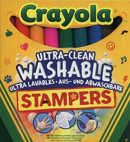 Crayola - 8 Mini Stampers Emoticones ultra lavables - Loisir créatif - Coloriage - papeterie - dessin - à partir de 3 ans - Jeu de dessin et coloriage