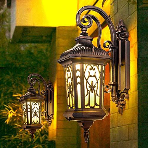 Neuartige Wandleuchte Wandleuchte Wandleuchte Lichthalterung Licht Europäische Retro Außenwandleuchte Außenwand Balkon Wandleuchten Wasserdicht Gartenleuchte Villa Zaun Dachterrasse Braun Gartenleuch