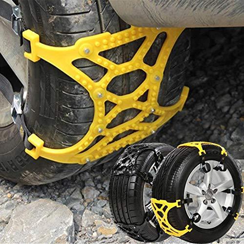 YHtech Negro de la Cadena del neumático de Nieve de la Correa Antideslizante Car Nieve Durable Auto TPU Antideslizante Cadenas Cadenas for neumáticos de Nieve Escalada Barro de Tierra Anti Slip