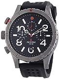 Reloj Nixon Crono correa caucho negro