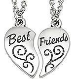 Collana Best Friends - Migliori Amici/Amiche (Cuore Motivo Inciso - 2 Pezzi) (Gioielleria)