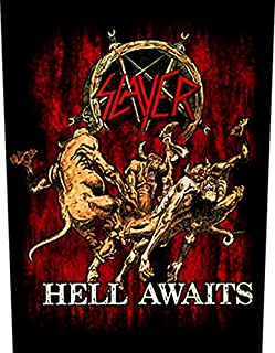 XLG Slayer Hell Awaits Back Patch Thrash Metal Music Jacket Sew On Applique