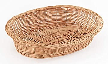 Weidenkorb Weidenbett mit Zopfrand aus Vollweide, Natur Größe (LxB): 74 x 57 cm Liegefläche(LxB): 52 x 38 cm Handarbeit, hergestellt in EU