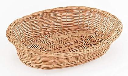 Weidenkorb Weidenbett mit Zopfrand aus Vollweide, Natur Größe (LxBxH): 85 x 65 x 13/17 cm Liegefläche (LxB): 70 x 47 cm Farbe: Natur Handarbeit, hergestellt in EU