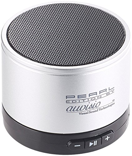 auvisio Aktivlautsprecher klein: Mobiler Aktiv-Lautsprecher mit Bluetooth 2.1, Metallgehäuse, 4 Watt (Mini Aktiv Lautsprecher)