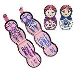 Hillent adorables muñeca patrón acero inoxidable manicura personal pedicura conjunto con funda de cu...