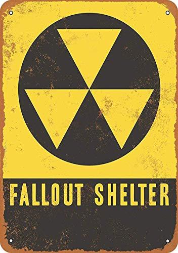 Fallout Shelter Paneles de pared de hojalata vintage Pintura sobre hierro Retro...