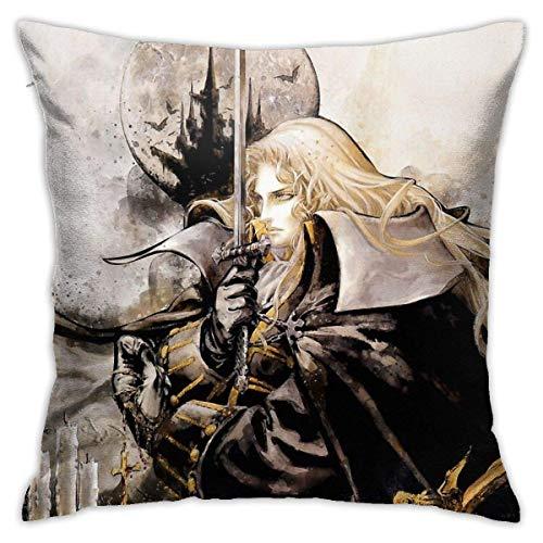 Ahdyr Castlevania Cushion Throw Pillow Cover Decorative Pillow Case For Sofa Bedroom 18 X 18 Inch