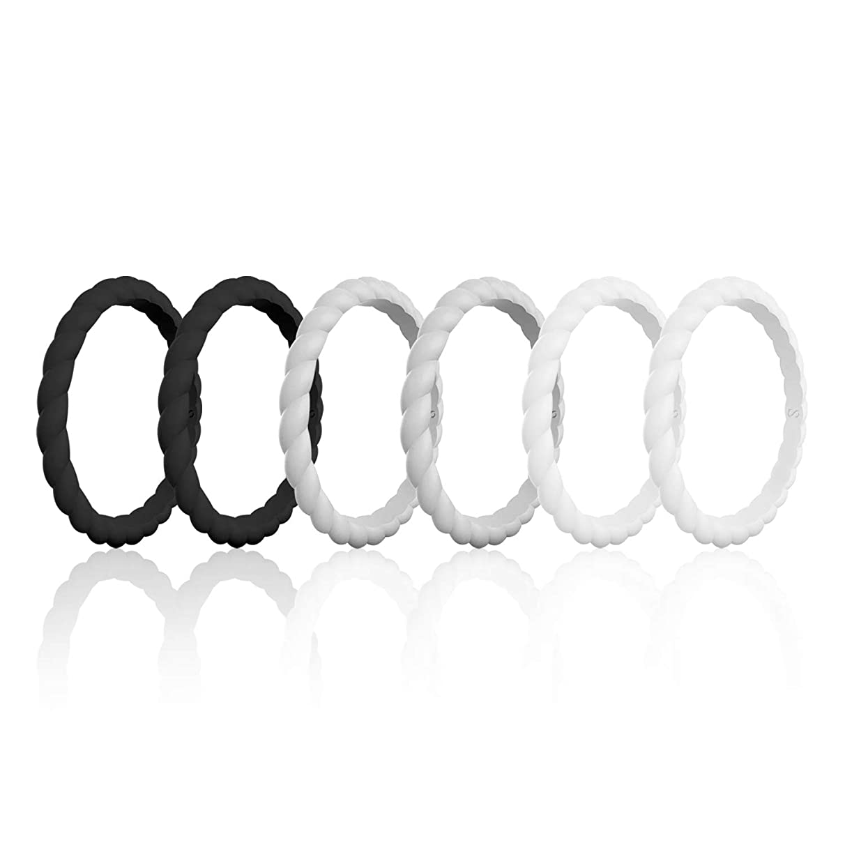 SANXIULY Womens Functional Silicone Ring&Rubber Wedding Bands for Workout and Sports Width 3mm