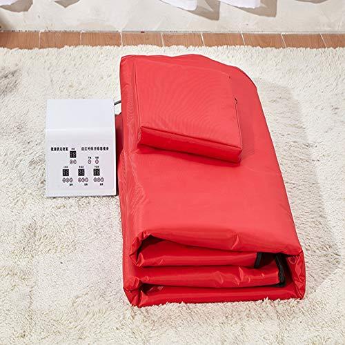 YUXINCAI Detox Schweiß Dampfdecke Far Infrared Therapy Sauna Decke Sweaty Steam Detox Beauty Pad Minus Fett Zur Linderung Von Körperermüdung,Rot
